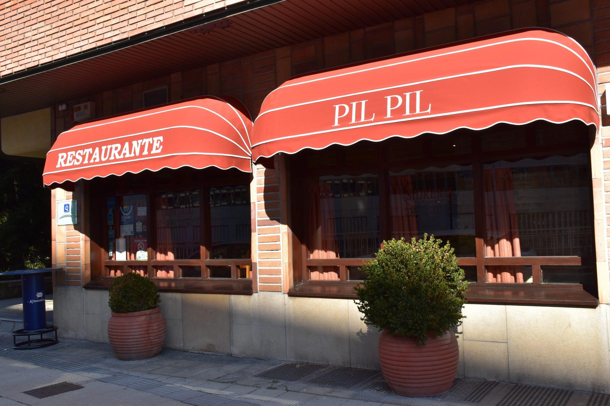 Fachada Restaurante Pil-Pil en Pamplona